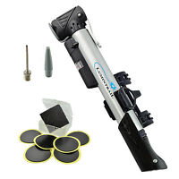 Lumintrail Mini Telescoping Frame Mount Bike Pump w/ Gauge FREE Puncture Patch