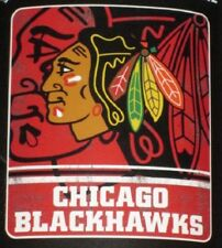 New Chicago Blackhawks Fadeaway Fleece Throw Gift Blanket Hawks NHL Hockey Team