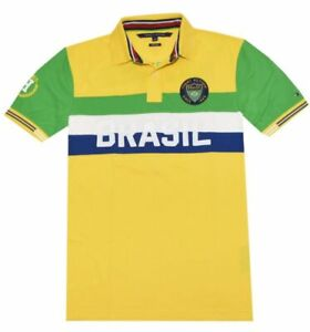 New Tommy Hilfiger Men's Limited Edition BRASIL Polo Shirt size: Medium
