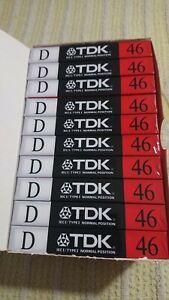 TDK D-46 N. Audio cassette sigillate. 1988. Lotto di 10 pz.