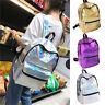 Girl Holographic Hologram Harajuku Backpack College School Shoulder Bag Rucksack