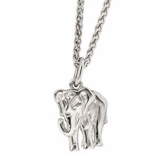 NEU Luxus Diamanten Anhänger kleiner Elefant 585er echt Weißgold 14 Karat
