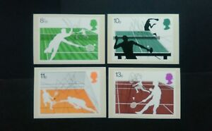 1977 RACQUET SPORTS P.H.Q. CARDS WITH A BIRMINGHAM FIRST DAY OF ISSUE DATESTAMP