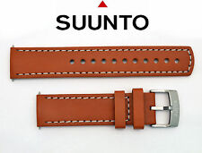Suunto watch band Elementum Aqua Terra and Ventus brown leather strap 2 pin