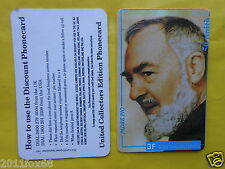 telefonkarten 1997 phone cards 3F 50 unità units phonecard padre pio pietrelcina