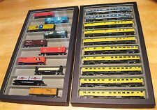 (3) N scale Passenger Car train Cases storage display keep em nice!