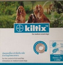 2X Kiltix Dog Collar size M Tick Flea neckless 5 months control Medium Bayer
