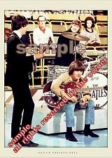 BEATLES photo     SET OF TWO GREAT MID 60`s PHOTOS. TV SHOW & STUDIO LENNON 66
