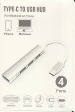 USB Slim 4-Port USB 3.0/2.0 Data Hub/Splitter