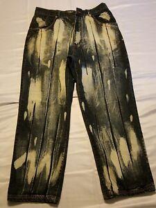 Raw Blue - Klassisch Urban Denim - Herren 100% Baumwolle Jeans (36x32) 6 Taschen