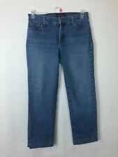 "NYDJ Not Your Daughters Jeans Size 8P Blue Medium Wash 24"" Inseam (4)"