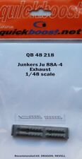 Quickboost 1/48 Junkers Ju88A-4 tubos de escape para Dragon/Revell # 48218