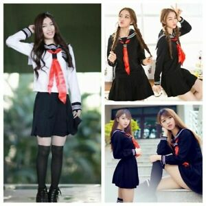 Hot Halloween New Japanese High School Girl Sailor Uniform Cosplay Costume Dress