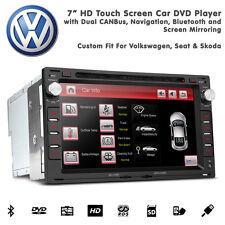 """7"""" hd écran tactile voiture bluetooth gps dvd usb sd aux stéréo pour vw golf Mk4"""