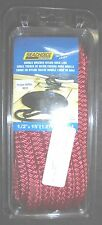"""DOCK LINE DOUBLE BRAIDED NYLON ROPE 1/2"""" x 15' RED SEACHOICE 39741"""