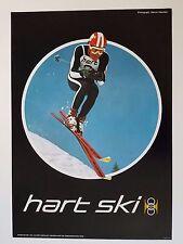 VINTAGE 1960s HART DEMONSTRATION TEAM SKI EQUIPMENT POSTER VAIL SKIS SKIER STAUB