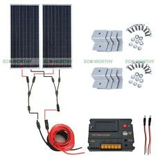Powerful 2x 100W 12V Solar Panel & 20A CMG Controller for Outdoor Use Tent RV