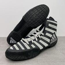 Adidas Adizero Varner 2 Wrestling Shoes Black/Grey FW1013 Men's Size 10