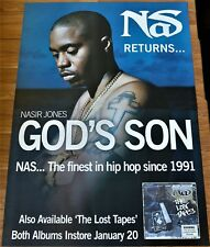 NAS GOD'S SON PROMO POSTER BIG 152x102cm 2 SHEET Nasir Jones Rap Hip Hop