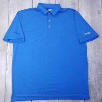 Callaway Opti-Dri Golf Polo Shirt Mens Large Blue Performance Short Sleeve P310