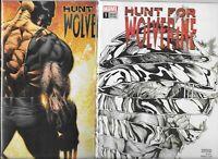 Hunt for Wolverine #1 (2 variants)   Lot of 2 (June 2018, Marvel Comics)