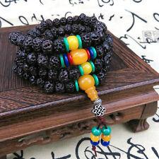 9mm Tibet Buddhism 108 Tianyizi bodhi seeds Prayer Bead Beewax Mala Necklace