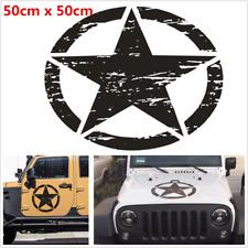 1Pcs Black Star Pattern Decal DIY Vinyl Car Body Stickers Universal 50cm x 50cm