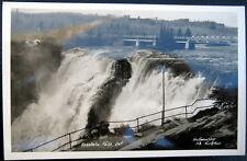 Canada~1940's Kakabeka Falls ~ Bridge ~ Pomena Shop Real Photo Pc Rppc