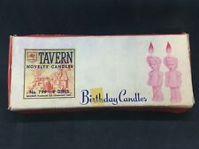 Vintage 1950s Socony Vaccuum Oil Tavern Novelty Birthday Candles No. 799-8 Girls