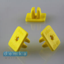 10x UNIVERSALKunststoffmutter Befestigung Klip Halter gelb plastic trim 8,5x17mm