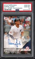 2018 Topps Now #AS16A AARON JUDGE All-Star-Autograph PSA 10 GEM MINT POP 2