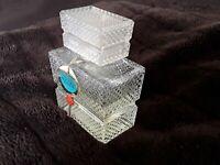 Alter 4711 Pafum Flacons für Sammler selten Pressglas rechteckig halb voll