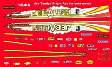 Jeb Allen Top Fuel Dragster NHRA Drag 1/64th HO Scale Slot Car Waterslide Decals