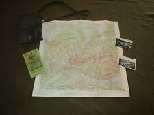 Original 1960's Era West German Army Map Case w/Shoulder Strap & Contents,Etc.