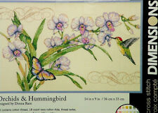 Dimensions Counted Cross Stitch Kit Orchids and Hummingbird New Sealed Nature