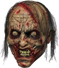 Halloween BLOODY ZOMBIE BITER ADULT LATEX DELUXE MASK COSTUME NEW