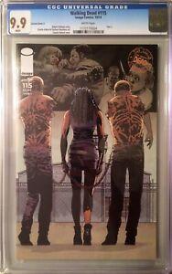 Walking Dead #115 Cover C CGC 9.9 Michonne Negan ALL OUR WAR MINT RARE Not 9.8