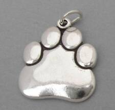 New Sterling Silver 925 Charm Pendant Large DOG CAT PAW PRINT LP2514