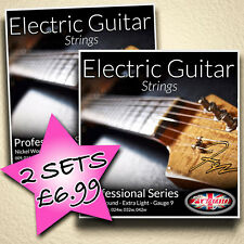 2 SETS / PACKS ELECTRIC GUITAR STRINGS - ADAGIO EXTRA LIGHT 9-42 GAUGE 9