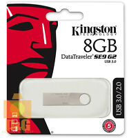 New Kingston 8GB DataTraveler SE9 G2 USB 3.0 Flash Pen Drive Memory Keychain
