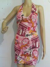 SUMMER SHORT DRESS NECK TIE BACKLESS SOFT LYCRA STRECH FABRIC ASSORTED PRINT