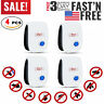 [4-Pack] Ultrasonic Pest Repeller Control Electronic Repellent Mice Rat Reject