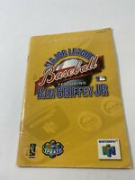 Ken Griffey Jr Major League Baseball N64 Nintendo 64 Instruction Manual Only