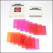 Ilford Multigrade Filter Set w/ 12 Filters - 7,5 x 7,5cm - Grade 00 to 5 - Boxed