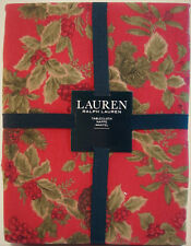 Ralph Lauren Tablecloth Holiday Christmas Birchmont Red 70 RD - NEW