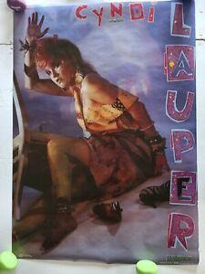 RARE CYNDI LAUPER 1984 VINTAGE ORIGINAL MUSIC POSTER not a reprint