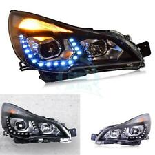 2pcs LED DRL Lens Headlights HID HeadLamp Assembly For Subaru Outback 2010-2014