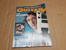 1989 GUITAR WORLD - ALAN HOLDSWORTH - TOM  KEIFER - WARREN De MARTINI