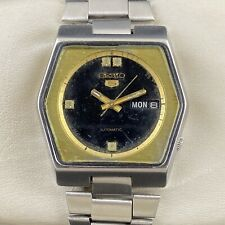 Vintage Seiko 5 Automatic 17 Jewels Cal.6309A Day-Date Men's Wrist Watch GM360