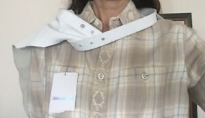 ZADIG And VOLTAIRE LEATHER BELT BANDANA,SHOULDER SCARF,WHITE LEATHER COWBOY STYL
